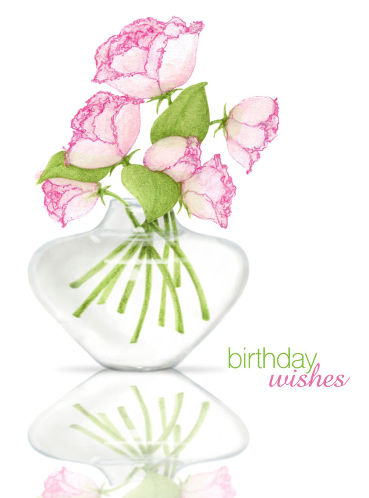 Card Couture Birthday Wishes Roses